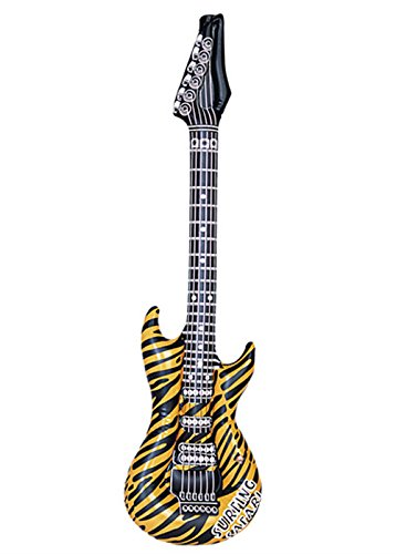 Magic Box Guitarra Inflable Rock Star Tiger Print: Amazon.es ...