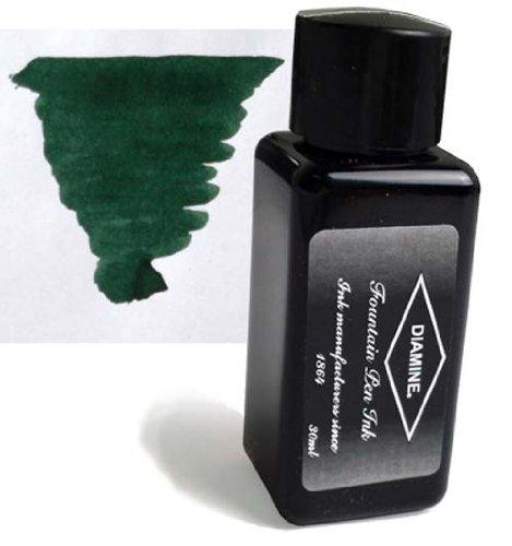 Diamine Refills Green / Black 30mL Bottled Ink - DM-3080
