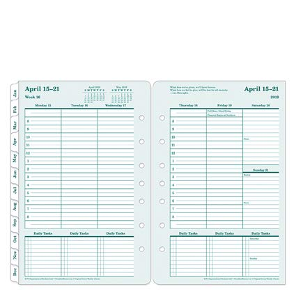 Classic Original 100% Recycled Weekly Ring-Bound Planner - Apr 2019 - Mar 2020 ()