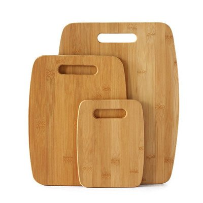 Totally Bamboo 3-Piece Bamboo Cutting Board Set