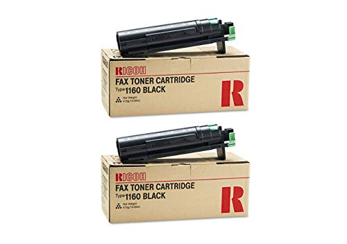 430347 Genuine Ricoh Toner Cartridge 2 Pack, Type 1160, 5000 Page-Yield Per Ctg, Black