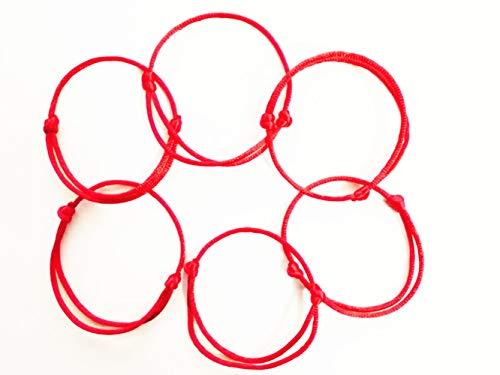 Cafurty 6 Pcs Kabbalah Red String Bracelets Evil Eye Jewelry Kabala Charm Fashion Bangle