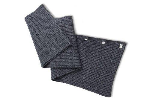 BMW Genuine Logo Unisex Knitted 100% Merino Wool Scarf Dark Gray ()