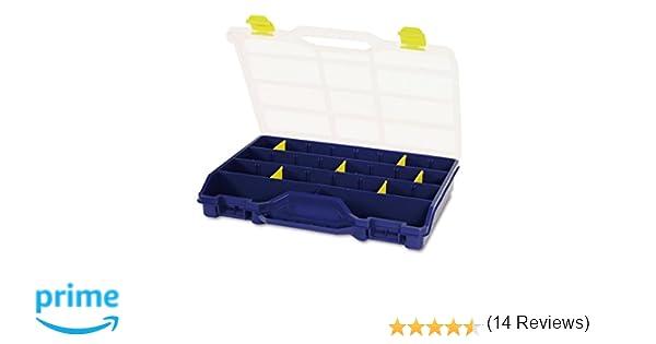 Tayg 46-26 Estuche Organizador con separadores móviles, 2000 W, 240 V, Azul, Transparente, Amarillo, 378 x 290 x 61 mm: Amazon.es: Bricolaje y herramientas