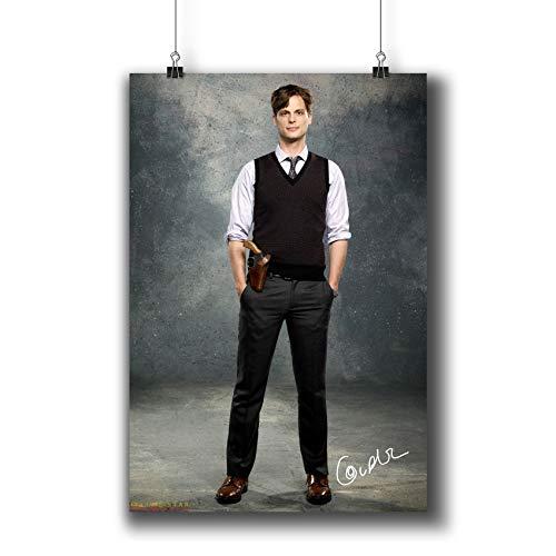 Pentagonwork Criminal Minds TV Photo Poster Prints 271-006 Dr.Spencer Reid Matthew Gray Gubler Reprint Signed Casts,Wall Art Decor Gift (A4|8x12inch|21x29cm) (Gray Reid)