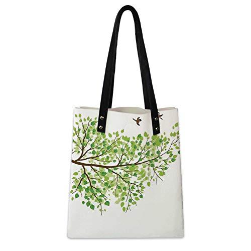 Hummingbird Soft Handbag Branch with Hummingbirds for Work