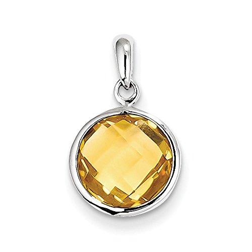 Pendentif Argent 925/1000-Citrine-JewelryWeb