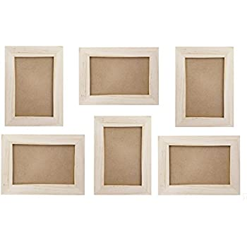 Amazon.com - Unfinished Wood Picture Frames, 4x6 Picture Frame Set ...