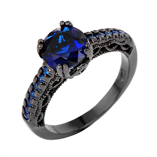 rongxing-jewelry-fashion-blue-sapphire-rings-womens-black-gold-filled-engagement-size-10