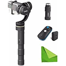 EACHSHOT® Feiyu FY-G4S 4 Modes 360 Degree Moving 3-Axis Handheld Steady Gimbal for GoPro Hero 3 3+ 4 Feiyu G4 update version With Wireless Remote Control + Battery Extender + EACHSHOT® Cleaning Cloth