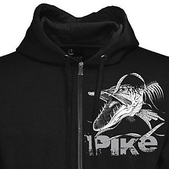 240cb77e1 MAXXIMUS Quality Angry Pike Hoody - Black Long Sleeved Front Zip Handwarmer  Lined Pockets Wide Drawstring