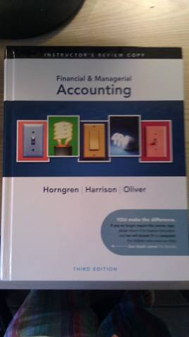 Financial & Managerial Accounting Instructor's Edition