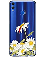 Oihxse Case Transparente Suave TPU Compatible con Huawei P30 Lite/Nova 4E Funda [Lindo Caricatura Flor Serie Dibujos] Cristal Protector Carcasa Anti Rasguños Bumper Cover-Crisantemo