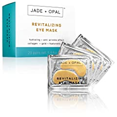 Nourish and revitalize dehydrated and fatigued skin using a powerful concentrate of conditioning ingredients. Jade + Opal revitalizing eye masks with Collagen, Hyaluronic acid, Gold and Amino Acids are specifically formulated to assist in pro...