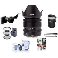 Fujifilm XF 18-55mm (27.4-83.8mm) F2.8-4 R LM OIS Lens - Bundle w/58mm Filter Kit, Cleaning Kit, Lens Case, Capleash, Flex Lens Shade, Software Pack