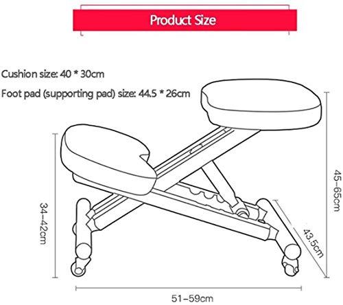 Stol ergonomisk hållningskorrigering, höjd justerbar ergonomisk knådning, trä kontorsmöbler knådande hållning arbete ortopedisk pall barn knäpall, förebyggande av närsynthet