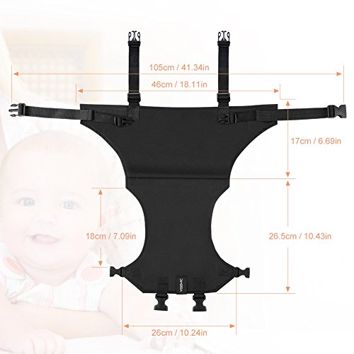 YISSVIC Portable Baby Feeding Chair Belt Toddler Safety Seat with Straps Child Chair Soft Belt Outdoor Portable Travel High Chair Booster Baby Seat Belt[2018 Updated]Black by YISSVIC (Image #8)