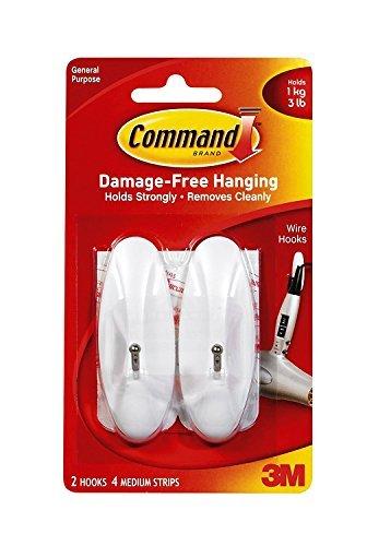 Command Medium Wire Hooks, 8-Hook