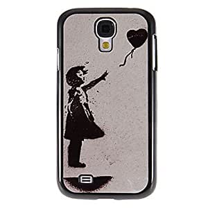 PEACH-Balloon Flys Away Pattern Mirror Smooth Back Hard Case with HD Screen Film 3 Pcs for Samsung Galaxy S4 I9500