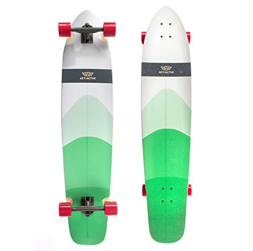 Aeroactive Longboard Skateboard Cruiser 45 Inch - Hardwood Maple