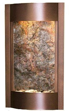 Adagio Serene Waters with Green Featherstone in Copper Vein Finish Fountain ()