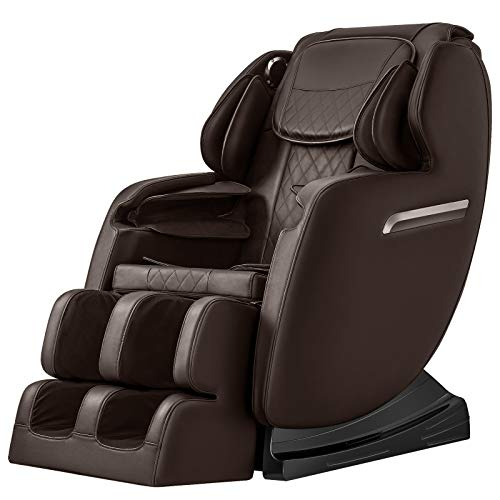 OOTORI SL Massage Chair, Full Body Air Massage, 3-ROW-Footroller, Roller Massage from Neck to hip, Yoga Stretching Function, w/Bluetooth Heating (Brown)