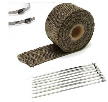 TITANIUM LAVA EXHAUST PIPE HEAT WRAP 1' x 25' MOTORCYCLE HEADER INSULATION Auto Express