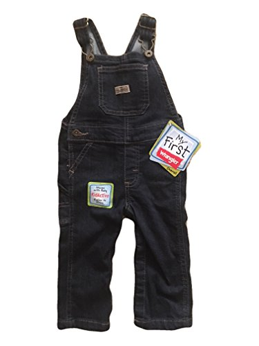 (Wrangler Baby Toddler Infant Denim Bib Overalls - My First (3-6 Months) )