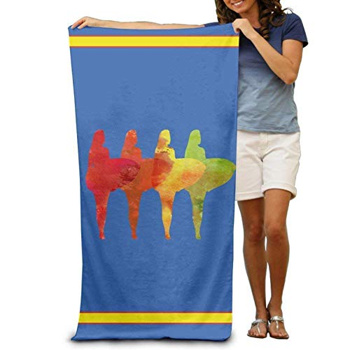 (Weerbar Microfiber Sand Free Beach Towel Blanket, Absorbent Lightweight Thin Towels, Bath Towel Lets Go Surfing Summer Time Adults Cotton Beach Towel 31