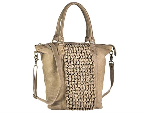 Bolso Loop 33 Shopper Beige Piel Demi Cm Borse Greenburry p6ndY6