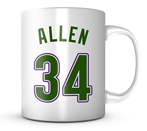 - Ray Allen #34 Mug Basketball 11 oz Coffee Cup - Makes A Great Fan Gift