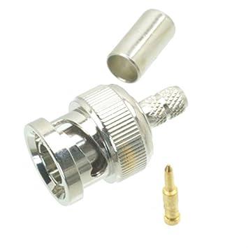 10pcs BNC macho RG59 RG62 RG140 RG210 Cable RF conector 75 Ohm