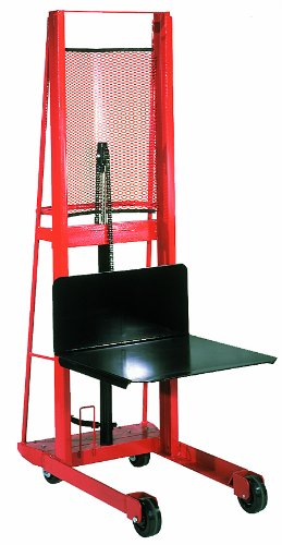 Wesco-260046-Economy-Platform-Hydraulic-Stacker-1000-lb-Capacity-80-Lift-Height-24-x-24-Platform