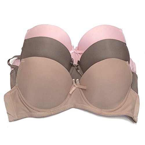 8416fbef218f9 8Layer s 3 Pack Push Up Bra For Women. Padded To Lift   Add 1 Full Cup Size