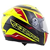 Scorpion EXO-500 Corsica Red/Neon Yellow Full Face Helmet - Small