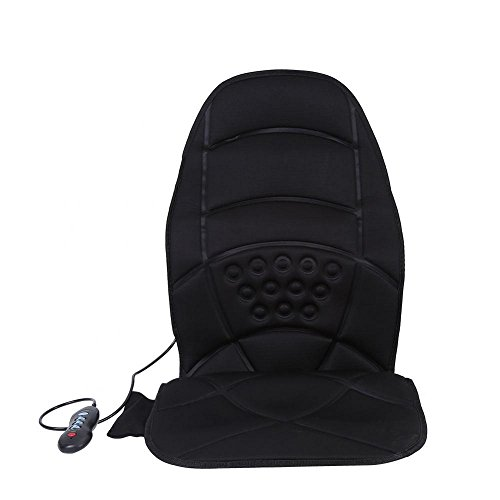 Cocoarm Massage Cushion, 5 Vibrating Motors Comfortable Massage Seat Back Neck Lumbar Full Body Massaging Chair Heated Electric Mat Pad Massager for Home Car Office ()