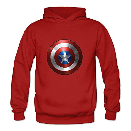 Price comparison product image Crystal Men's Captain American Logo Long Sleeve T-shirt Red US Size S