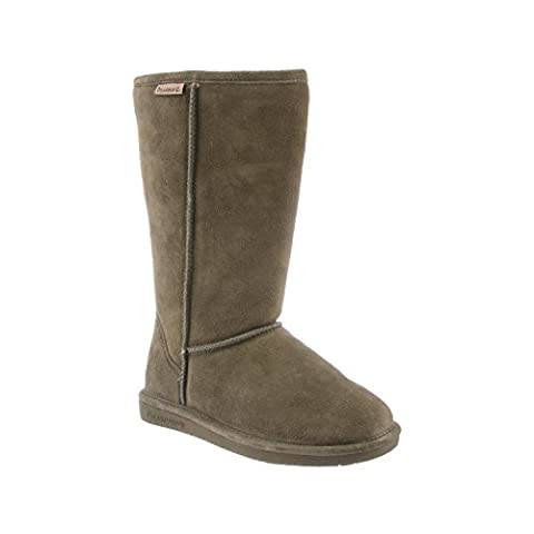 Bearpaw Womens Emma Tall Shearling Boot Olive (8) - Faux Ugg Boots