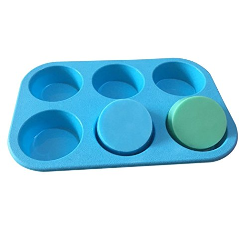 Allforhome(TM) 6 Round Silicone Cake Baking Mold Pans Muffin Cups Handmade Soap Molds Biscuit Chocolate Craft Art DIY Mold