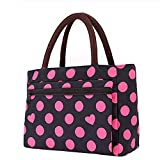 Lunch Bag Large Size Tote Bag Traveling Camping Working Lunch Bag for Women/Men,P