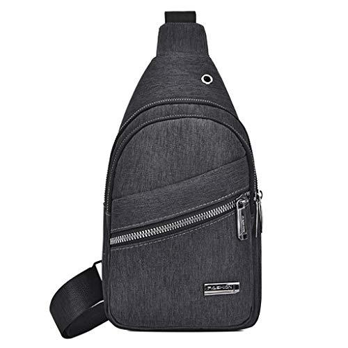 Vielgluck Oxford Sling Bag, Plaid Chest Bag Wild Crossbody Bag Fashion Shoulder Bag Ligtwight Package Travel Sport for Men