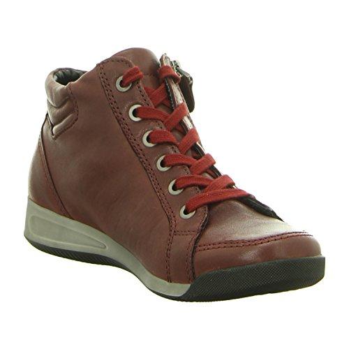 ara Rom - Zapatillas altas para mujer rojo borgoña