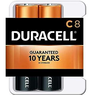 Duracell Coppertop Batteries C, 8-Count, Black (MN14R8DWZ0017)