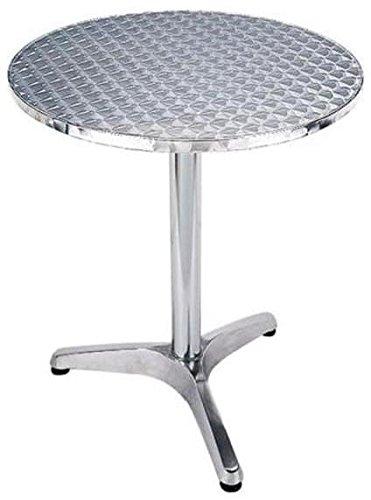 Amicasa. Mesa de jardín Aluminio Redondo 60 cm Color Inoxidable ...