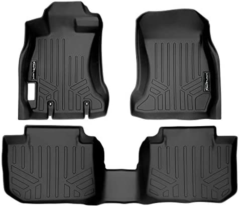 SMARTLINER Custom Fit Floor Mats 2 Row Liner Set Black for 2013-2017 Subaru Crosstrek/XV Crosstrek