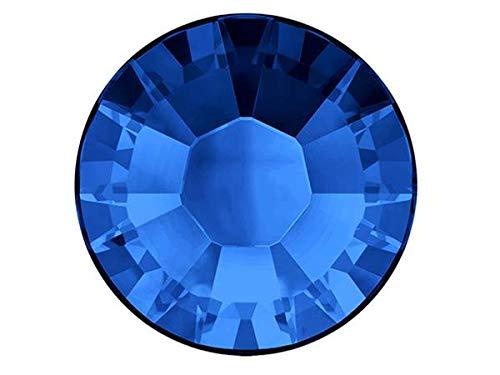 Swarovski HOTFIX Flatbacks, Sapphire Iron-on Rhinestones Art. 2028/2038 HF, Size ss30 (6.5mm), 360 Pieces - 30ss Sapphire