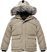ZSHOW Boy's Hooded Puffer Jacket Thick Padded Winter Coat Windproof P