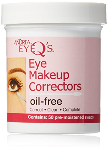 Andrea Eyeq's Oil-free Eye Make-up Correctors Pre-moistened Swabs, 50 Count (Pack of 6) (Corrector Eye)