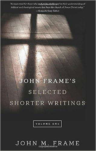 John Frame s Selected Shorter Writings Volume 1 John M
