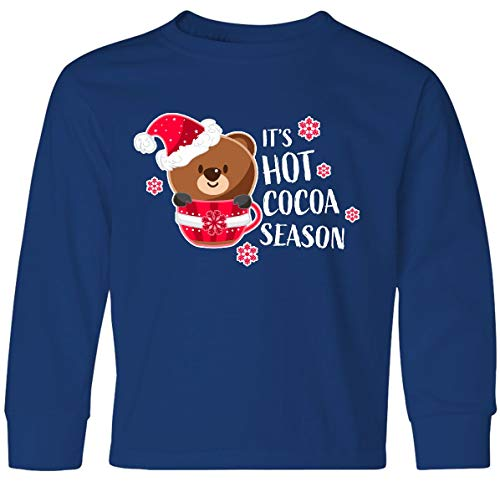 inktastic - It's Hot Cocoa Youth Long Sleeve T-Shirt Youth Small Royal Bue 33215